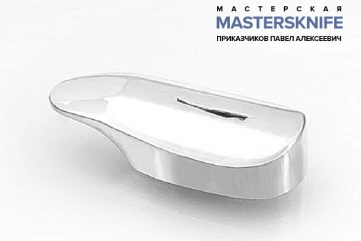 Литье для ножа из мельхиора гарда модель ГАРМ54