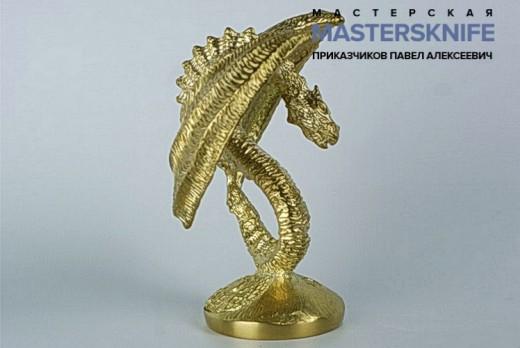 Литье для ножа из мельхиора дракон модель ДМ1