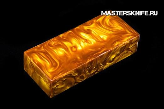 АК60 Брусок для рукояти: акриловый композит -золотой перлатурт