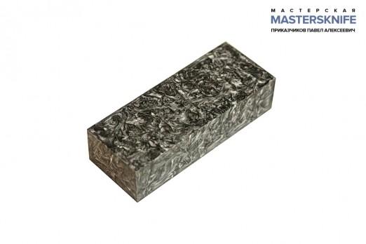 АК15 Брусок для рукояти: акриловый композит - серебро с мелкой стружкой