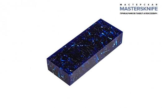 АК3 Брусок для рукояти: акриловый композит - синий с мелкой стружкой