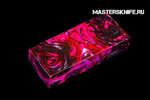 АК58 Брусок для рукояти: акриловый композит - черно-розовый перламутр