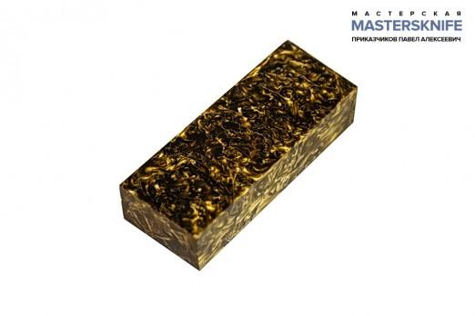АК9 Брусок для рукояти: акриловый композит - золото-бронза с мелкой стружкой