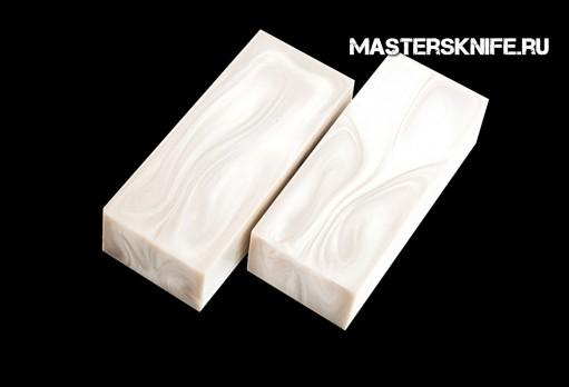АК25 Брусок для рукояти: акриловый композит - белый перламутр