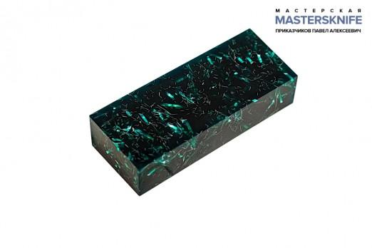 АК1 Брусок для рукояти: акриловый композит - зеленый с мелкой стружкой