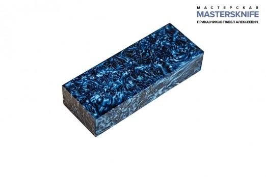 АК17 Брусок для рукояти: акриловый композит - синее серебро с мелкой стружкой