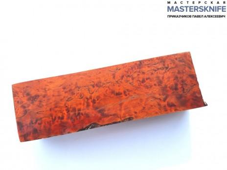 Стабилизированная карельская береза оранжевая