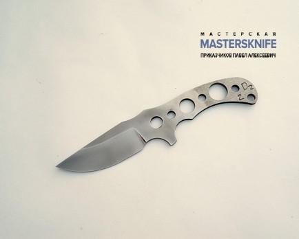Цельнометаллический клинок для ножа из стали D2 N2