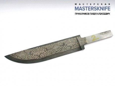 Клинок для ножа из мозаичной дамасской стали N2
