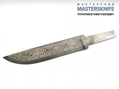 Клинок для ножа из мозаичной дамасской стали N5