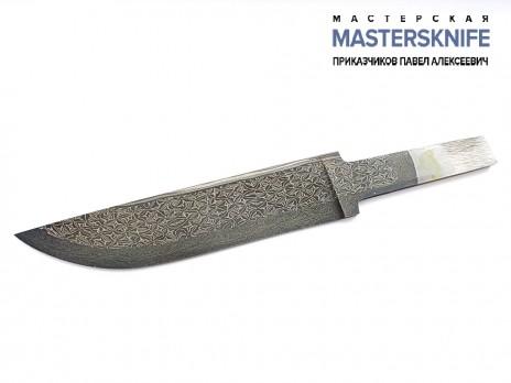 Клинок для ножа из мозаичной дамасской стали N9
