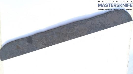 Поковка из ламинированной стали Дамаск прямой - обкладки 95х18 300х35х4,8