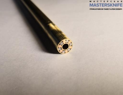 Мозаичный пин для рукояти ножа 8 мм № 6