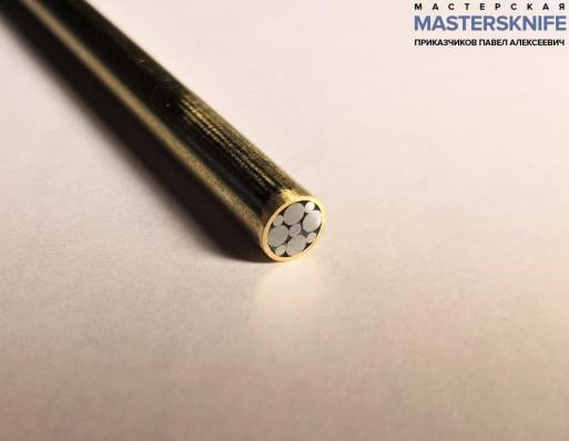 Мозаичный пин для рукояти ножа 6 мм № 11