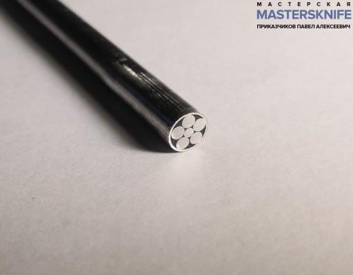 Мозаичный пин для рукояти ножа 6 мм № 12