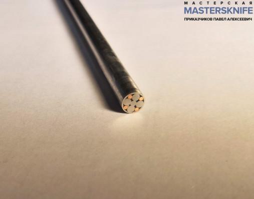 Мозаичный пин для рукояти ножа 6 мм № 13