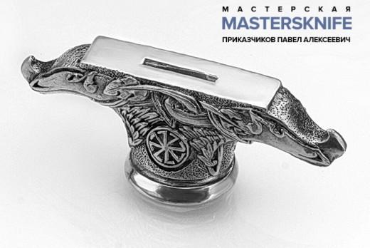 Литье для ножа из латуни гарда модель ГАРЛ36