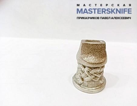 Литье для шампура из мельхиора притин модель ШМ1