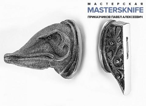 Комплект литья для ножа из мельхиора — модель КМ168