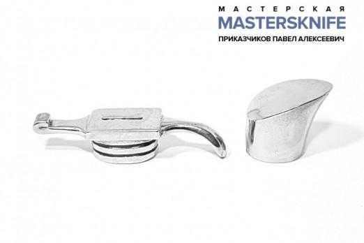 Комплект литья для ножа из мельхиора для финки НКВД модель КМ176