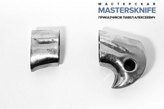 Комплект литья для ножа из мельхиора для шашки модель КМ183